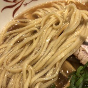 「西天満飯店」醤油ラーメンの麺