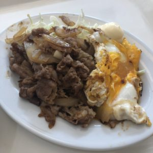 「野田食堂」焼肉と玉子