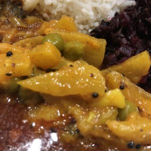 「セイロンカリー」のパイナップルのカレー
